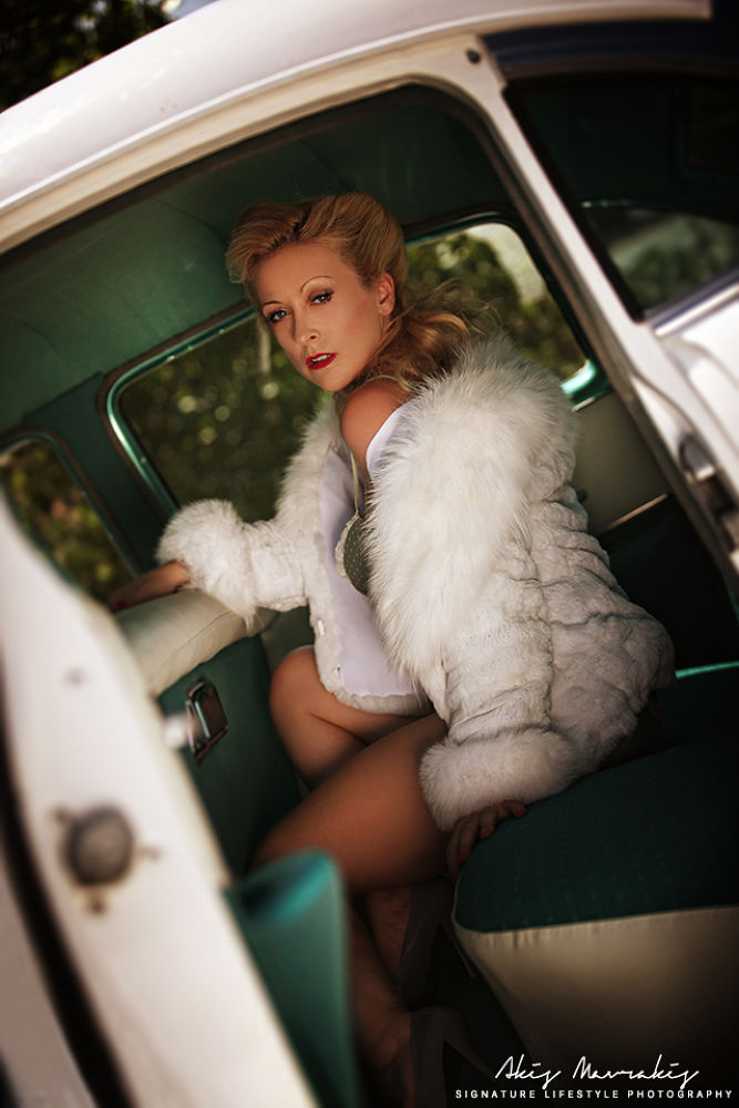 Photo in Portrait #vintage #boudoir #retro #sexy #hot #girl #car #fur #beauty #woman #magazine #fashion #glamour