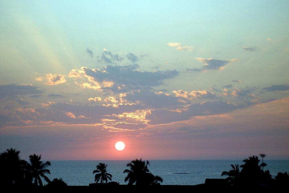 PB250229 sun set at jampore beach in my city daman ,india by kcsethi