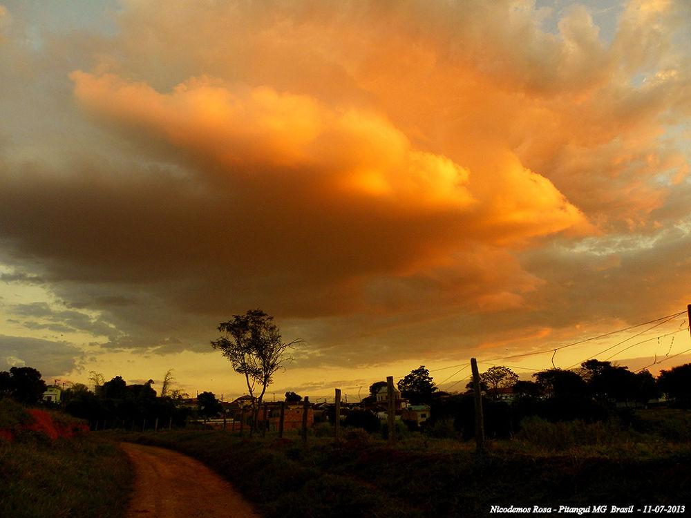 Photo in Nature #clouds nuvem amarela nicodemos