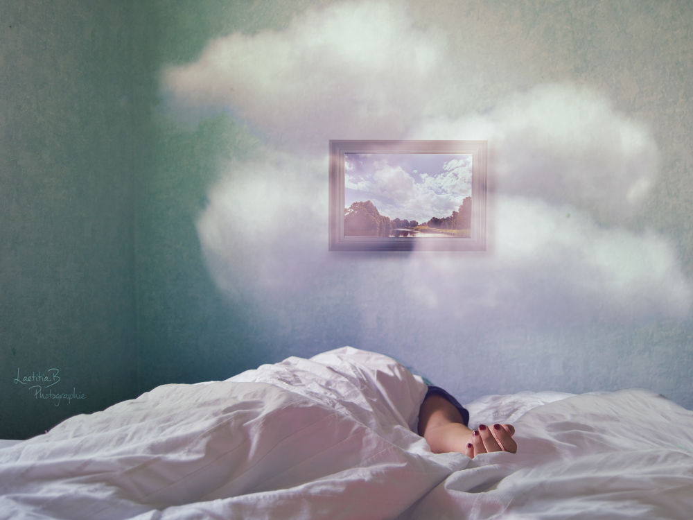 Photo in Fine Art #shelter #soul #clouds #blue #green #white #purple #pink #paint #hand #arm #asleep #paradise