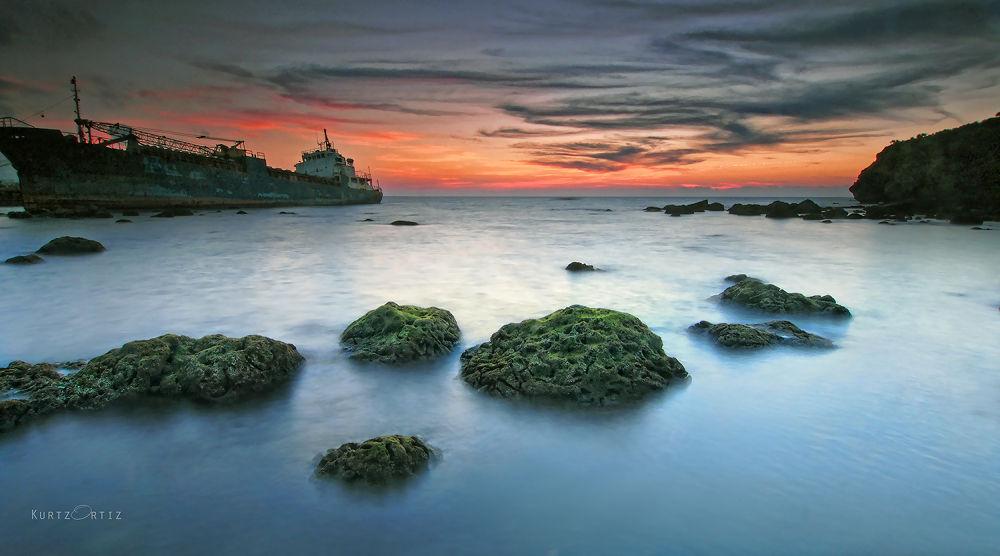 Photo in Random #sunset shipwreck batanes