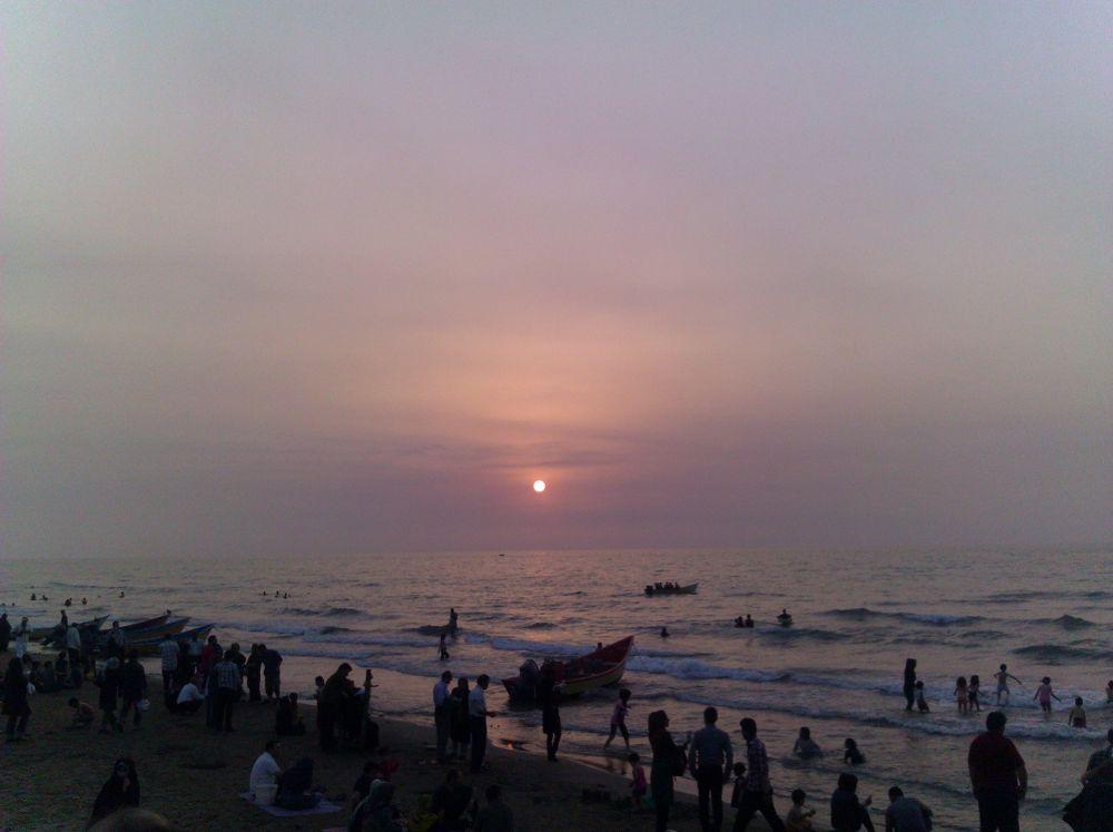 Photo in Random #kish #iran #sea #people #lovely people #sunset