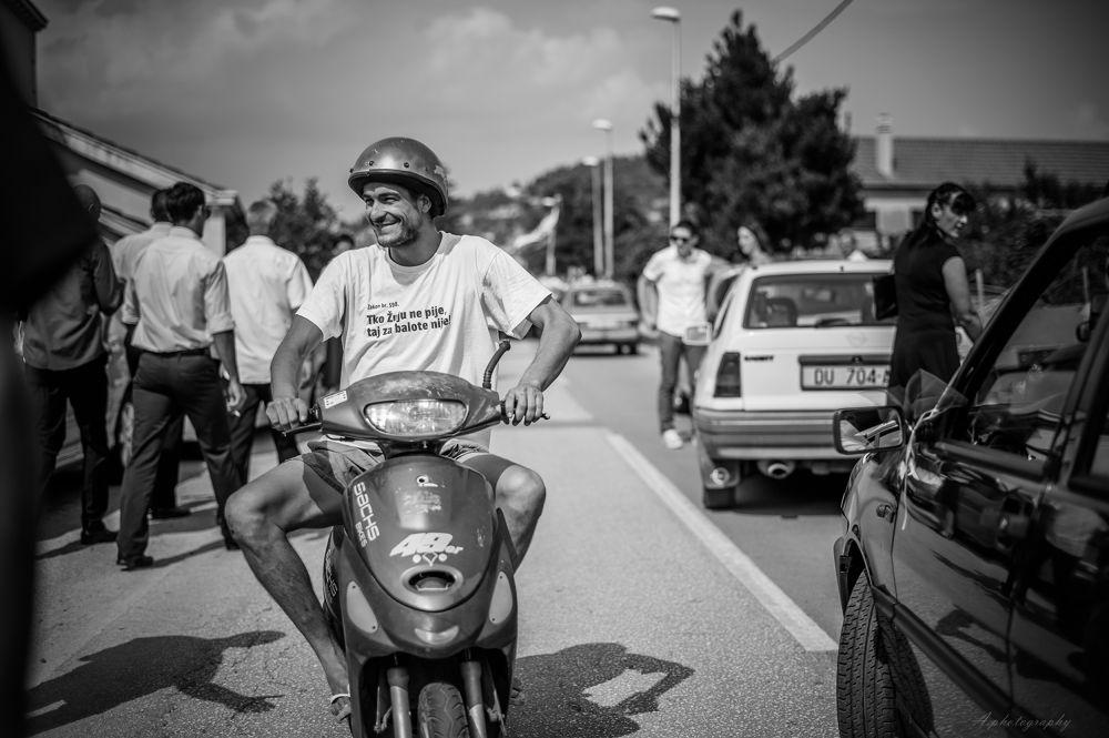 Photo in Random #man #motorcycle #black #white #croatia #nikon