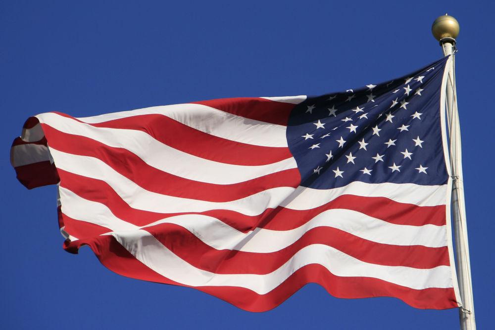 Photo in Random #flag #american flag #pride #american pride #god bless #hidden wonder #red white and blue #america #flying free #blue skies