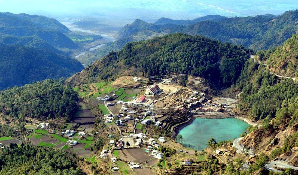 khurptal.....beautiful scenic view of khurptal in nanital,India by sunitakcsethi
