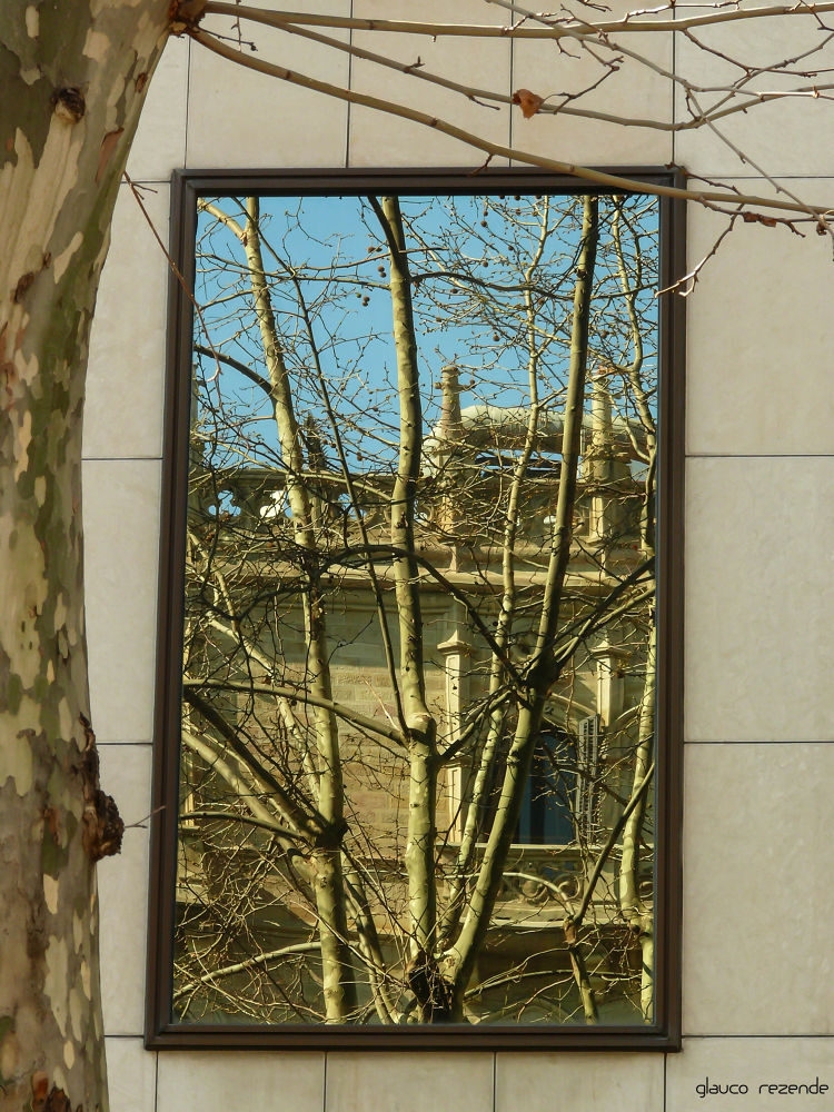 Reflections in the windows of the city by Glauco Rezende