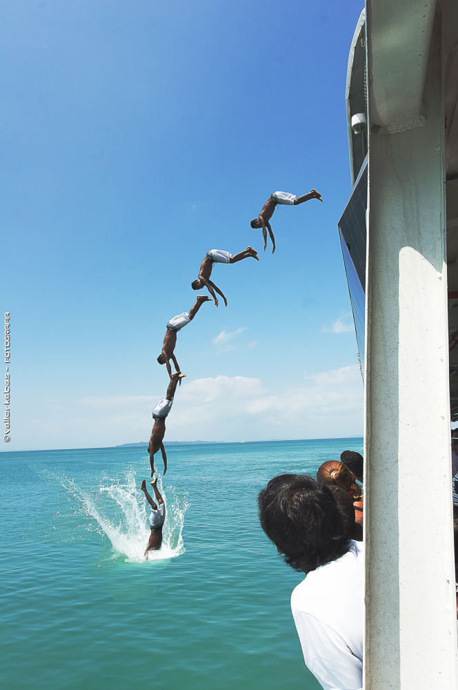 Jumping from a ferry boat by Kabas
