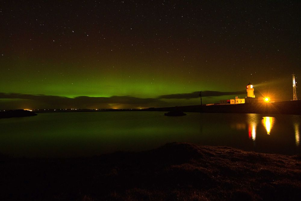 Photo in Astrophotography #aurora reflections at noss lig