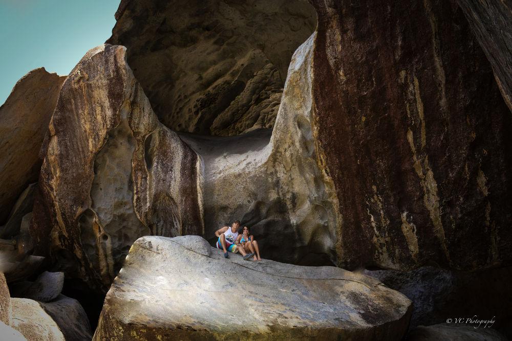 Photo in Travel #thebaths #rocks #islands