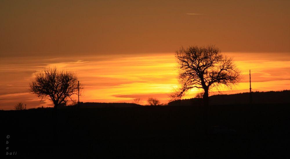 first sunset in spring............ by Elke Gamsjäger