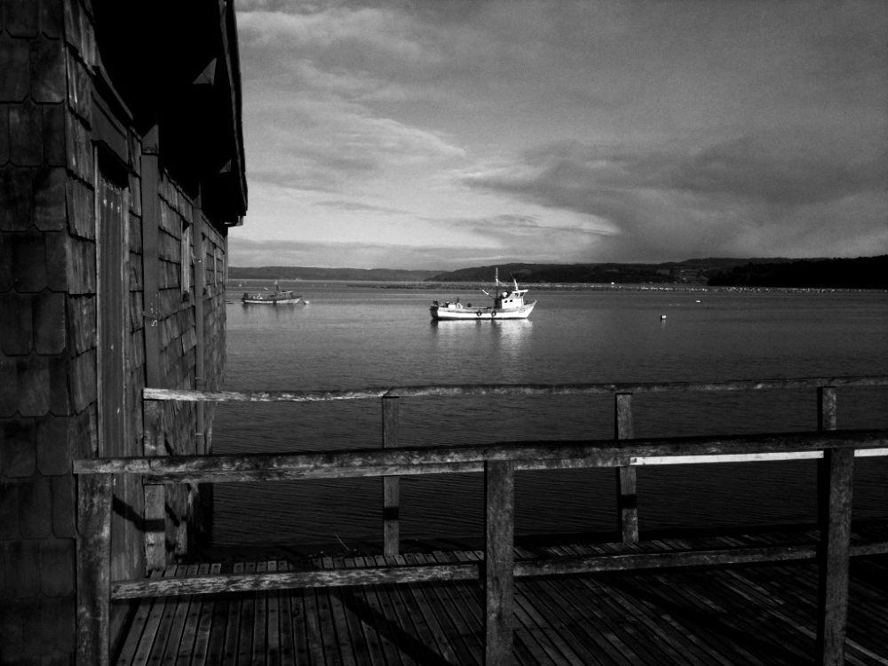 Photo in Black and White #chile #chiloe #queilen