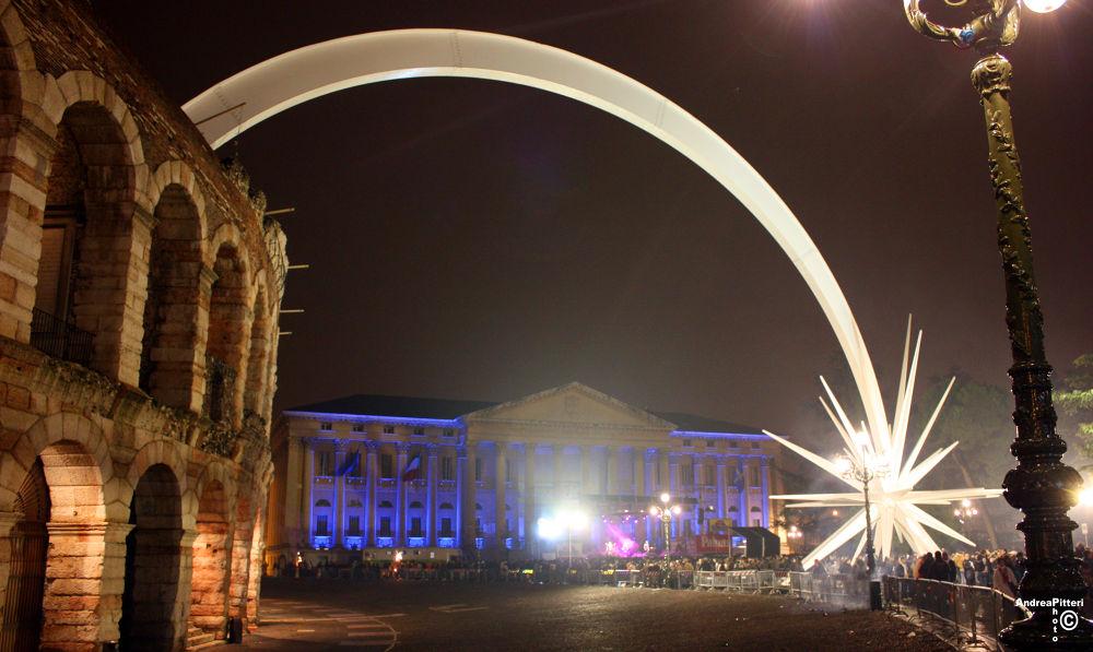 Verona by night by Andrea Pitteri