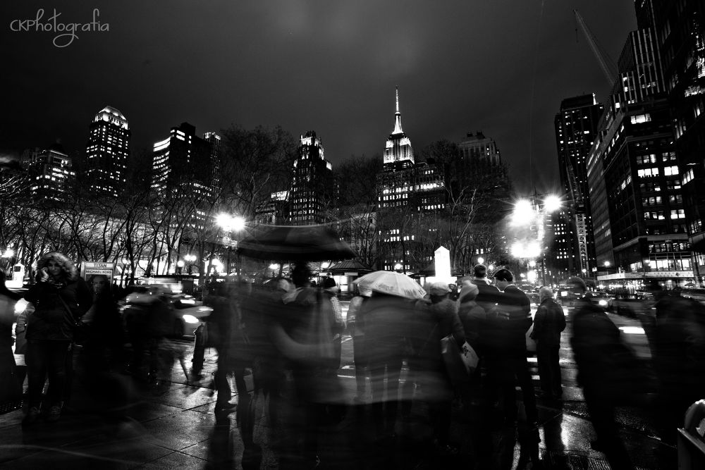 Photo in Black and White #new york #new york photography #black and white #street photography #street togs #street #canon #canon 5d mark ii #buzz #crowds #night photography