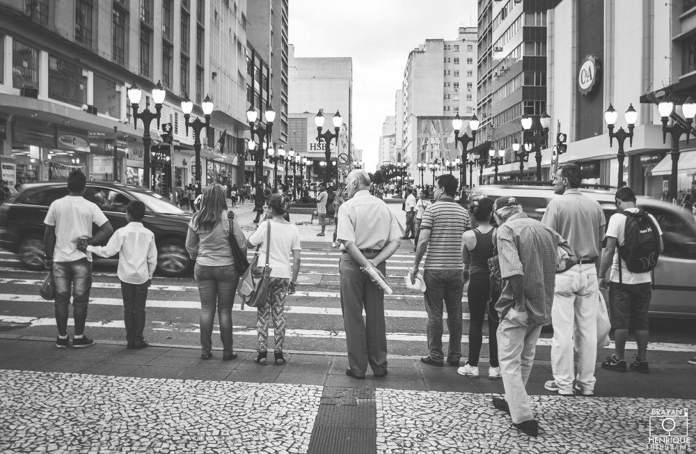 Photo in Street Photography #cars #black #people #white #photography #urban #brazil #2013 #curitiba