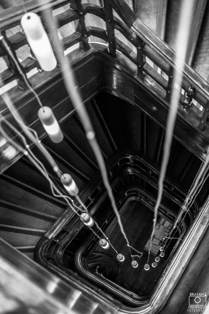 Photo in Architecture #black #white #light #ladder #step #brazil #photography #picture #image #curitiba #museum