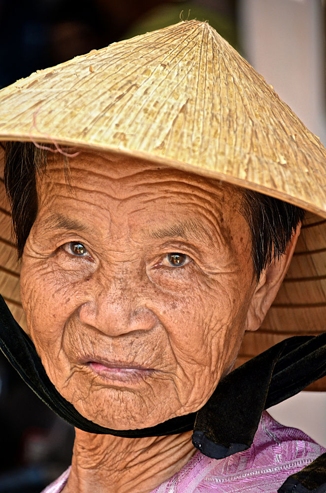 Photo in People #lam san #vietnam #old lady #woman #asia #asian #hat
