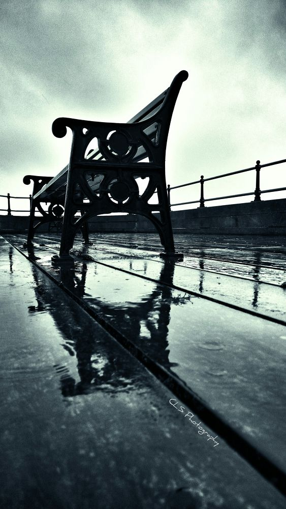 Photo in Black and White #bench #chair #pier