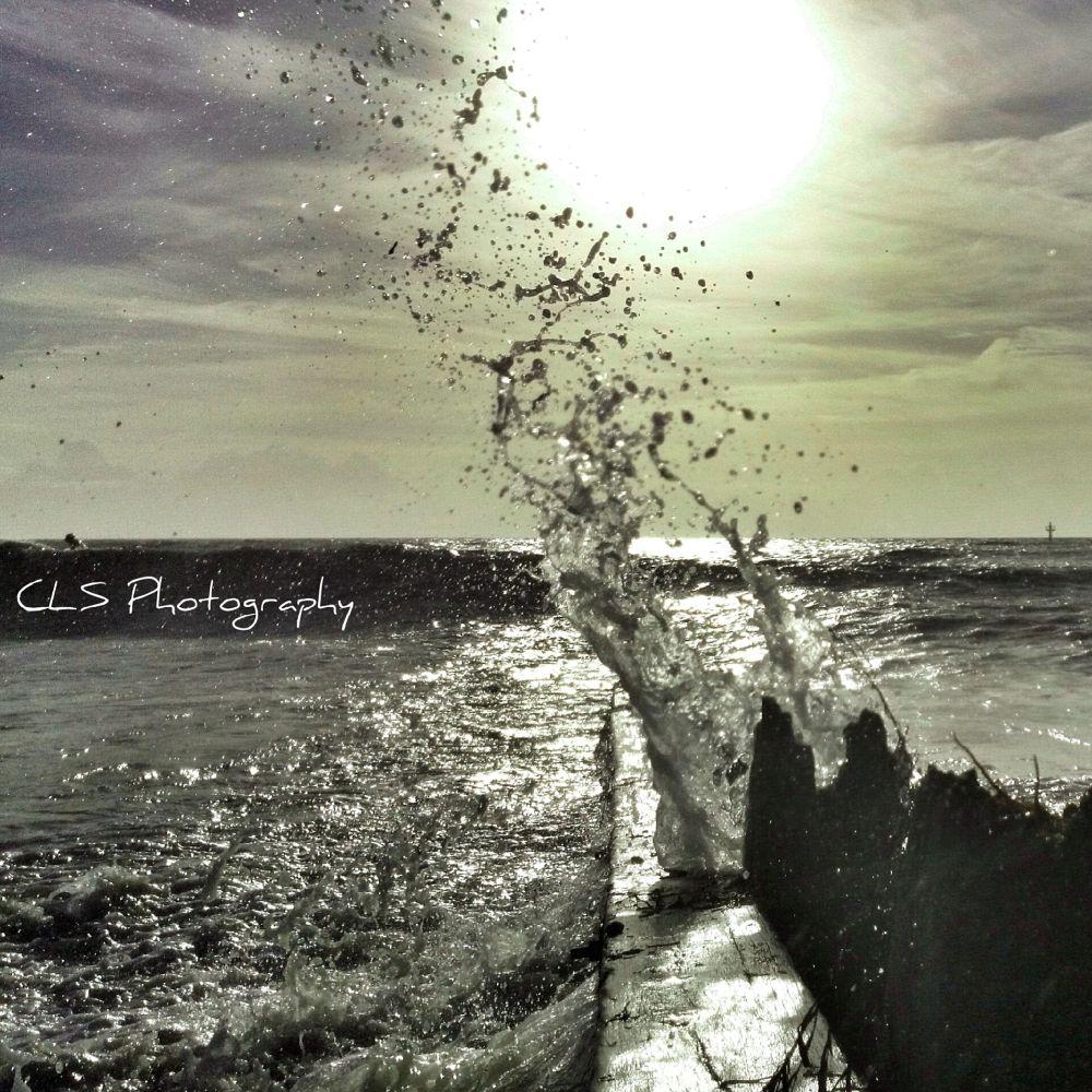 Photo in Random #sun #splash #splatter #beach #beachfront #winter #waves