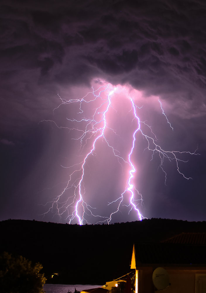 Photo in Nature #thunderstorm #storm #lightning #high voltage #thunder