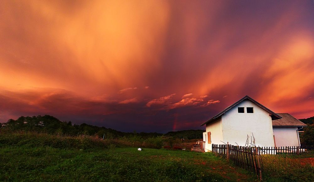 Photo in Landscape #sky #awesome sky #a #azing #orange