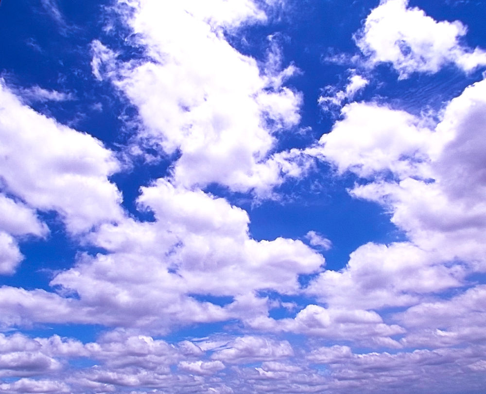 White clouds giving peace. by Scarlet Butterfly