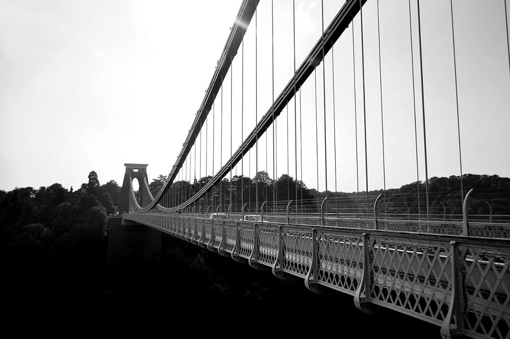 Photo in Rural #history #bridge #black and white