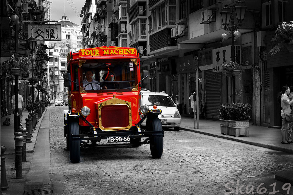 Photo in Random #car #red #macau #macao #china #old #classic