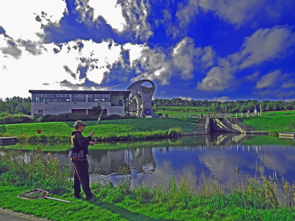 fishing by Jim Huntsman