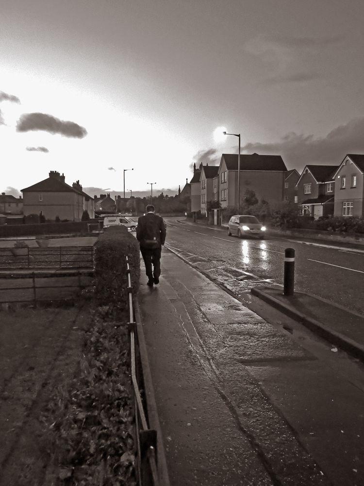 Photo in Black and White #stenhousemuir #b&w #landscape #rain