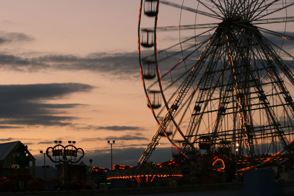 Wheel at night by Jim Huntsman