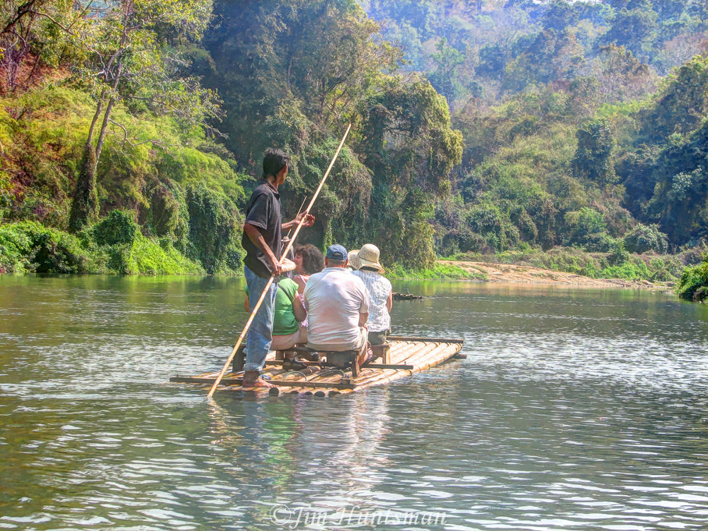 Photo in Landscape #mae tang #jungle raft #river #elephant #people #landscape
