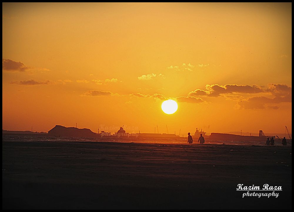 sunset by Kazim Raza