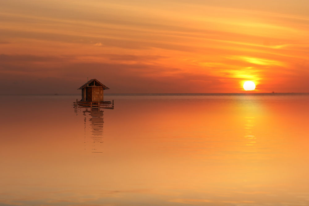 the FADs with BG sunset by Robby Montolalu