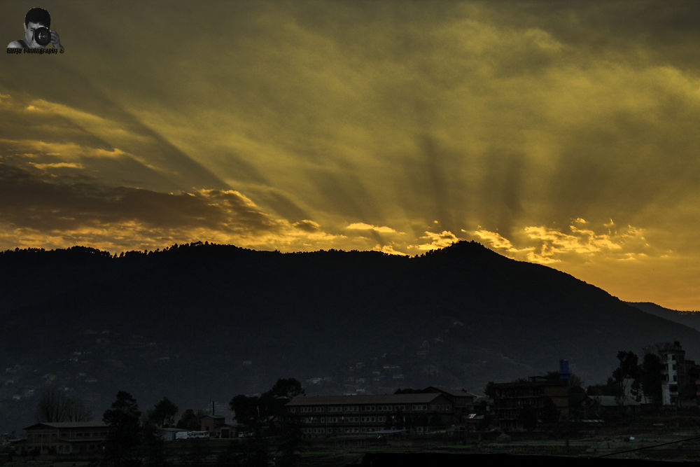 Evening Gold. by Mahesh Bajracharya