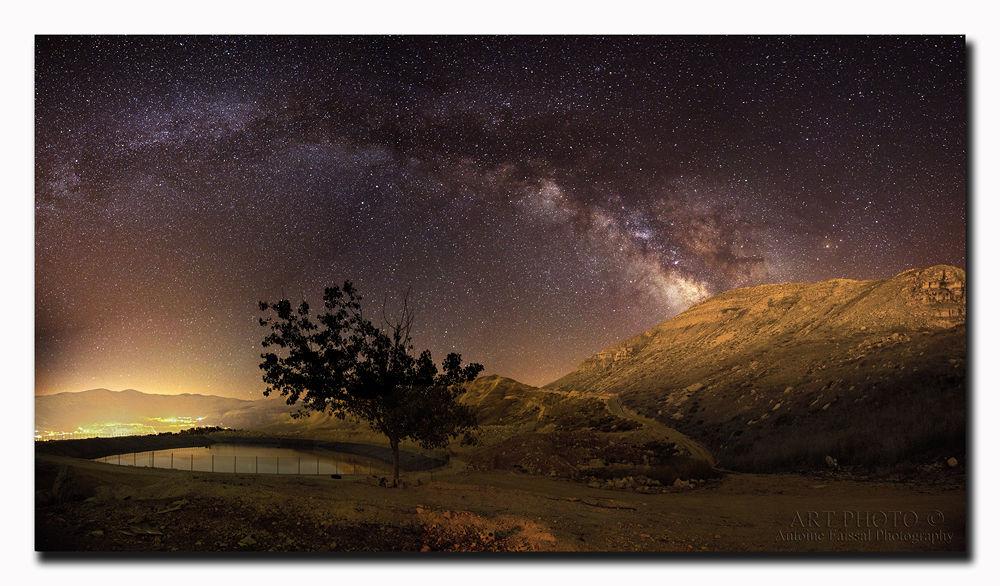 "Canon 5D Mark III, 24-70 f/2.8 @ 2.8, S 20"", Iso 3200, 15 frames panoramic. Lebanon by tonyfaissal"