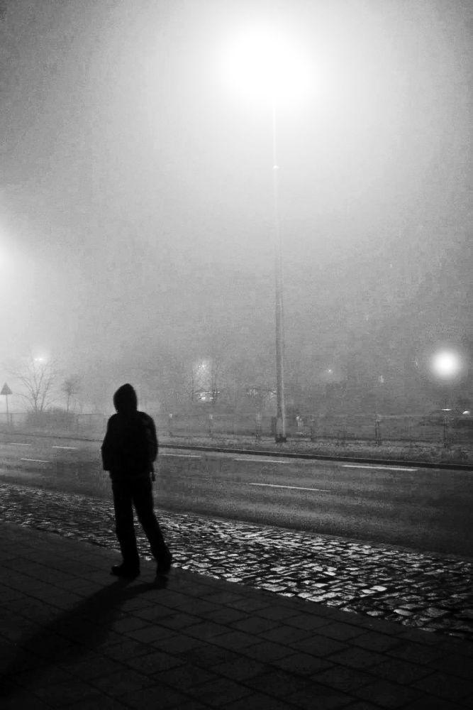 Man in fog by Ewelina Środa