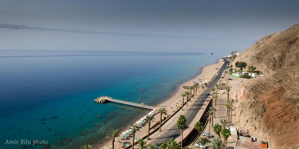 The Gulf of Eilat-Border between Israel and Jordan, Egypt by Amir Bilu