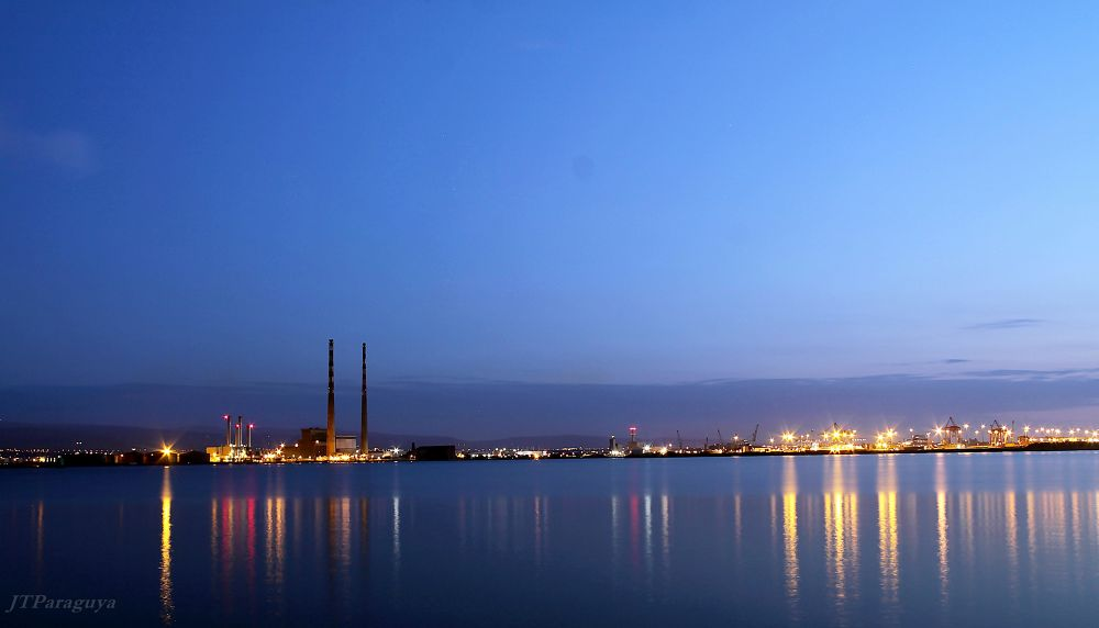 Photo in Landscape #ireland #landscape #dublin #seascape #dusk #dublin port