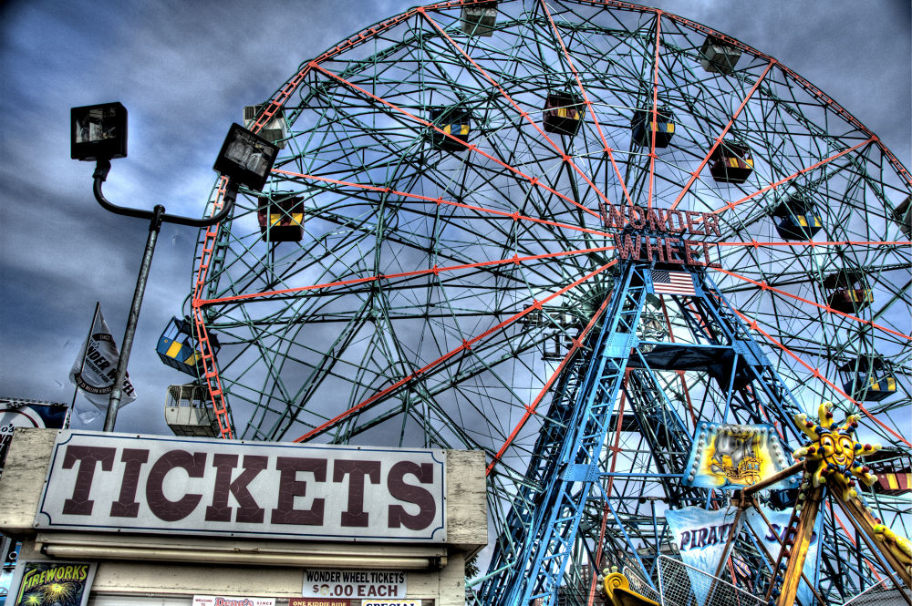 Photo in Random #brooklyn #nyc #new york #ny #coney island #wonder wheel