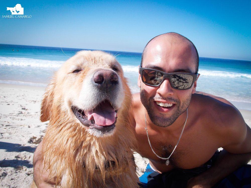 Man & Dog by Rose Alves