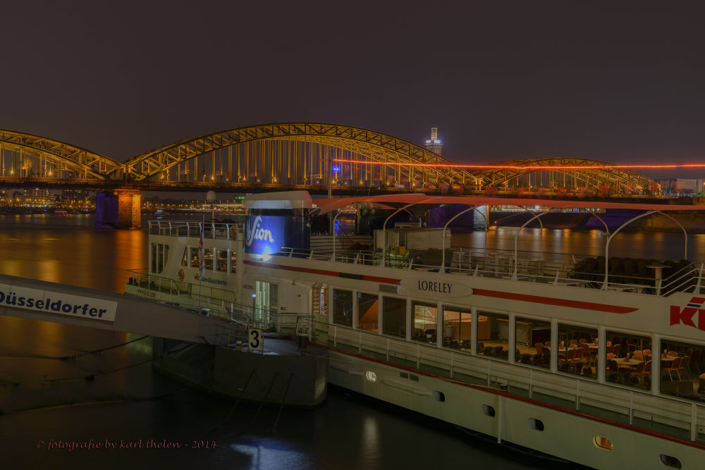 city cologne rhine by karl hotz-thelen