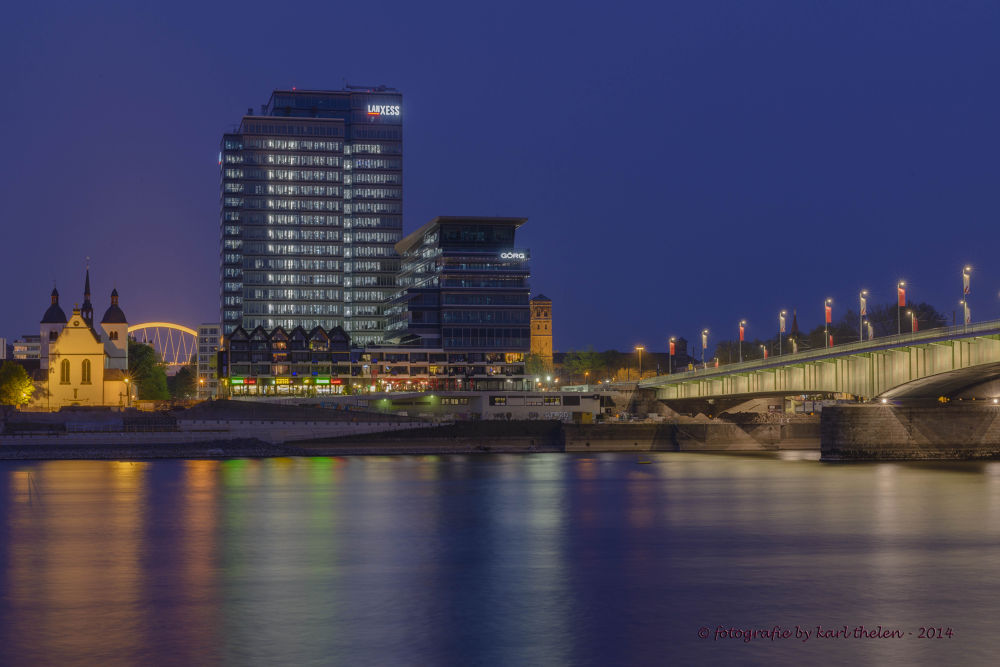 city cologne rhine by karl hotz-thelen