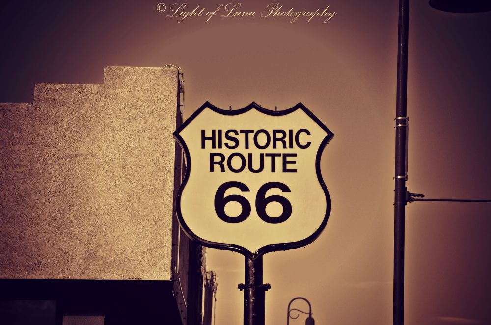 Photo in Travel #route 66 #historic #santa rosa #new mexico #sign #desert #travel #light of luna photography