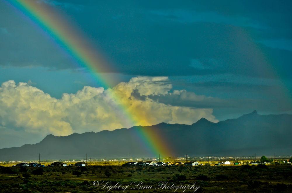 Photo in Travel #arizona #rainbow #landscape #rain #travel #nature #light of luna photography