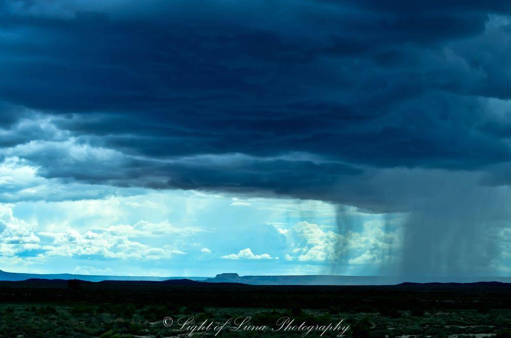 Photo in Landscape #rain #landscape #light of luna photography #clouds #desert #new mexico #nature #storm