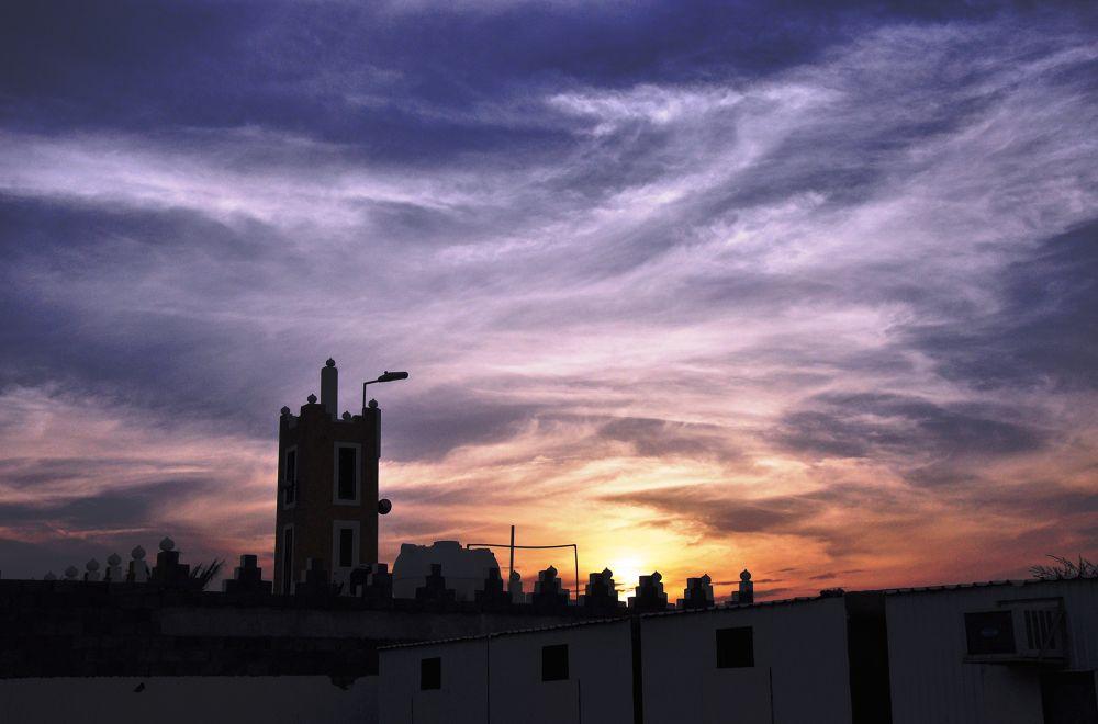 Riyadh Sunset by Miles Encarnacion