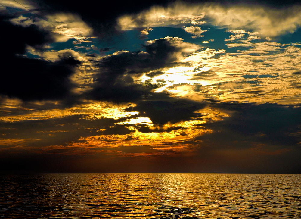 Photo in Nature #colors #clouds #sunset #ocean