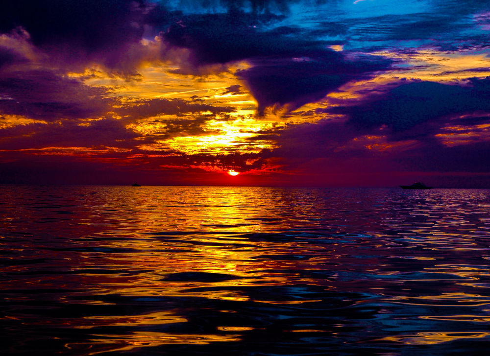 Rainbow Sunset by Lanie Avery
