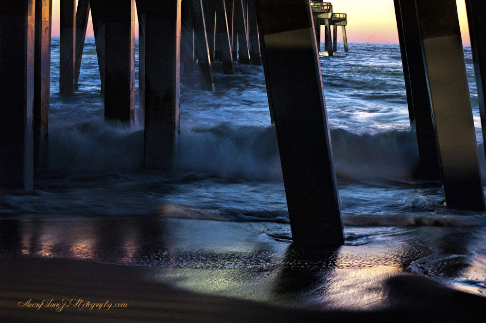 Jeannette's Pier Splash 2  by Lanie Avery