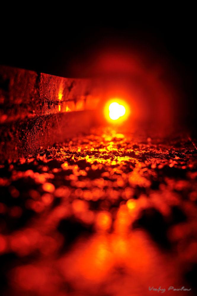 light on stairs by Vicky Pavlou
